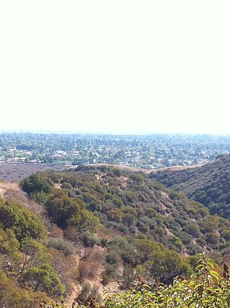 Foothills of the San Gabriel Valley - View overlooking the valley from the foothills of Claremont
