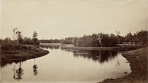 Vondelpark - In 1867 the vegetation in the new park was still low