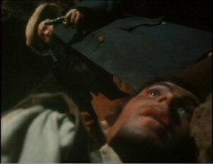 Welles as Long John Silver in the film Treasure Island