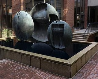 <i>Three Bronze Discs</i> artwork by James Wines