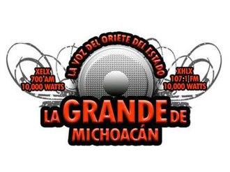 XHLX-FM - Image: XHLX La Grandede Michoacan logo