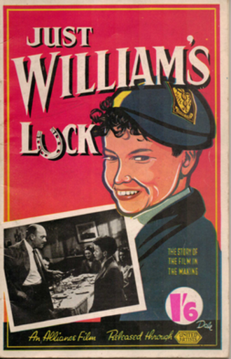 """Just William's Luck (film) - Cover of the """"making of"""" book"""