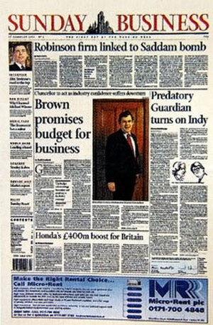 Sunday Business - Sunday Business first edition