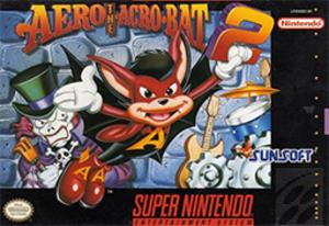 Aero the Acro-Bat 2 - Cover art for the Super NES version