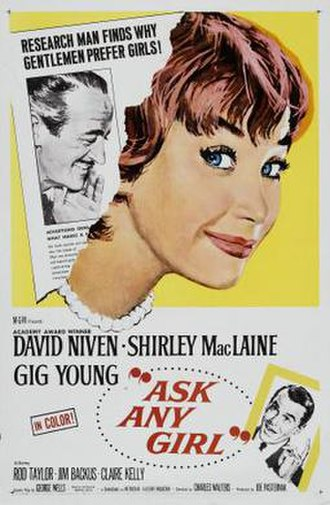 Ask Any Girl (film) - Theatrical poster