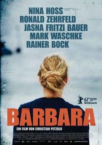 Barbara (2012 film) - Film poster