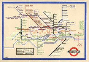 Harry Beck - Beck's Underground Map of 1933