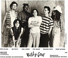 Billy Goat, 1992. L-R: Mike Dillon, Kim Pruitt, Earl Harvin, Phil Major, Brandon Smith and Kenny Withrow.