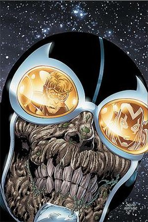 Ted Kord - Black Lantern Ted Kord. Art by Dan Jurgens.