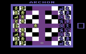 Archon: The Light and the Dark - Screenshot of Archon on the C64