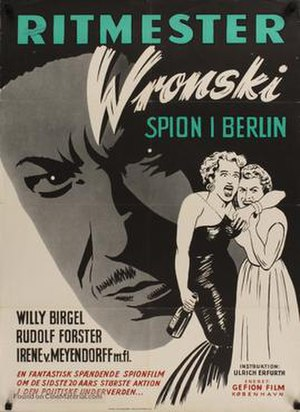 Captain Wronski - Danish release poster