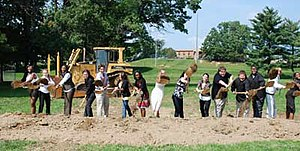 George Washington Carver Center for Arts and Technology - Carver students participate in the groundbreaking on September 15, 2009