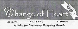 Change of Heart (street paper) - Change of Heart masthead from spring 2009
