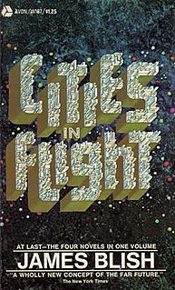 <i>Cities in Flight</i> four-volume series of science fiction stories by James Blish