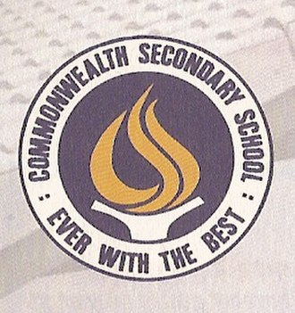 Commonwealth Secondary School - The CWSS Crest, designed by Miss Ruth Ng