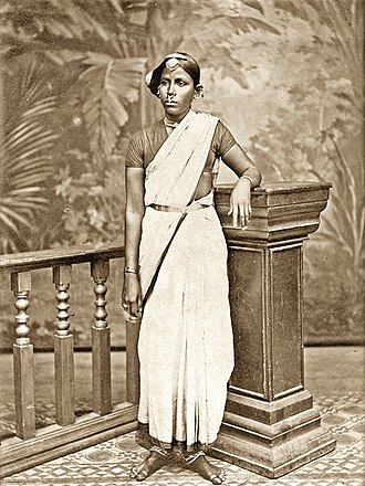 Indentured servitude - Coolie woman in traditional dress