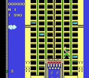 Crazy Climber - Crazy Climber (Famicom version) screen shot