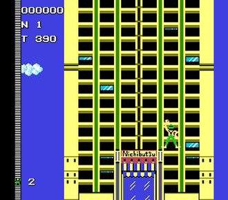 Crazy Climber - Famicom screenshot