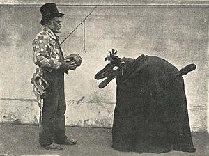 Hoodening - Hoodeners in Deal, Kent, in 1909