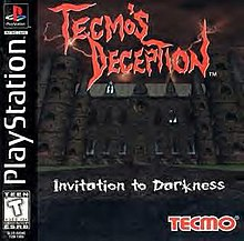 Box cover of Tecmo's Deception: Invitation to Darkness