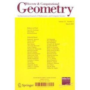 Discrete and Computational Geometry - Image: Discrete CG