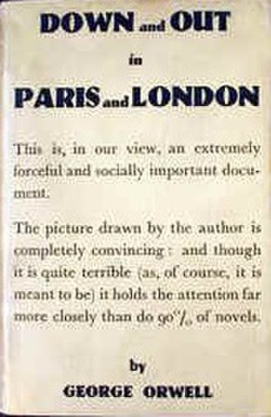 Down and Out in Paris and London - Cover of first edition
