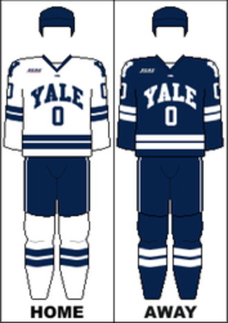 Yale Bulldogs men's ice hockey - Image: ECAC Uniform Yale
