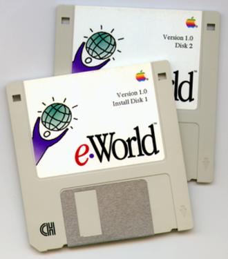 EWorld - eWorld version 1.0 installation came as a set of two floppy disks