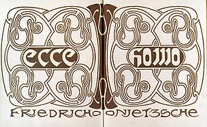 Ecce Homo (book) - Cover of the 1908 Insel edition designed by Henry van de Velde.