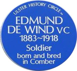 Edmund De Wind - Ulster History Circle blue plaque, Bridge Street Link, Comber