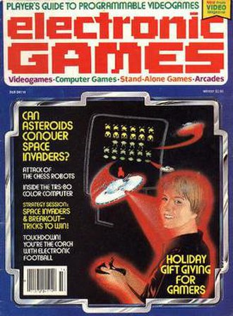 Electronic Games - The cover of the first issue of Electronic Games (Winter 1981)