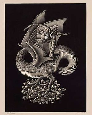 Tail Of The Dragon Photos >> Dragon (M. C. Escher) - Wikipedia
