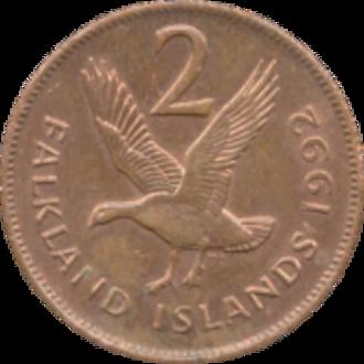 Falkland Islands pound - Image: Falkland 2 pence