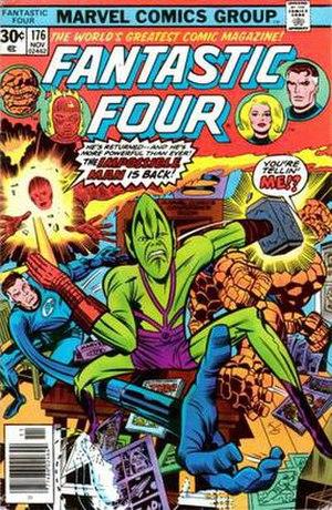 Impossible Man - Image: Fantastic Four 176