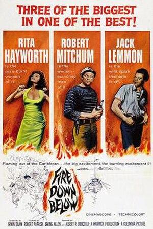 Fire Down Below (1957 film) - US cinema release poster