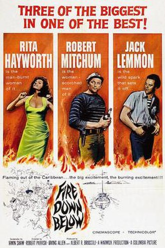 Fire Down Below (1957 film) - US cinema release poster