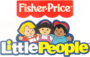 Little People - The Fisher Price Little People logo used beginning in mid-2007. From left to right: Eddie, Sonya Lee, Michael.