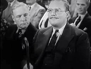 Frank O'Connor (actor) - Screen capture of O'Connor (on left) with Rex Evans in the 1937 film, The Wrong Road