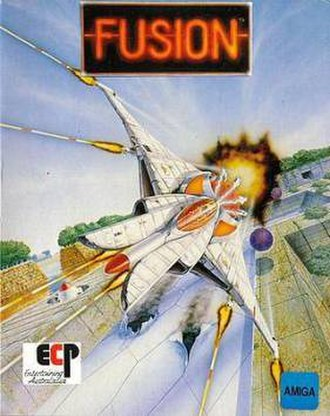 Fusion (video game) - Amiga cover art