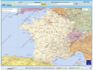 Géoportail - 2D view of continental France