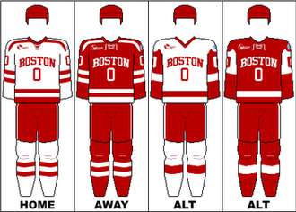 Boston University Terriers men's ice hockey - Image: HE Uniform BU