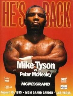 Mike Tyson vs. Peter McNeeley Boxing competition
