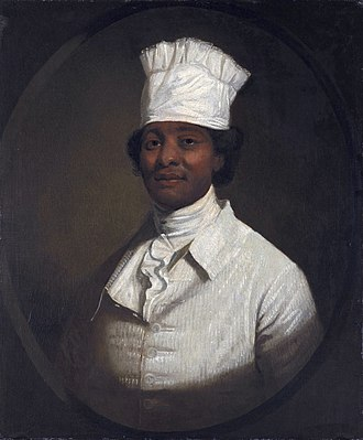 Hercules (chef) - Long thought to be a portrait of Hercules by Gilbert Stuart but is neither Hercules nor painted by Stuart