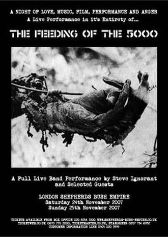 Crass - Poster for the 5000 performance, November 2007