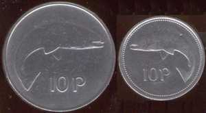 Ten pence (Irish coin) - Image: Irish ten pence (decimal coin)