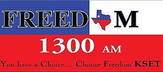 "KLLS - KSET's logo as ""Freedom 1300"""