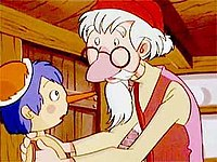 pinocchio and geppetto in pinocchio the series