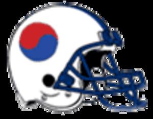 South Korea national American football team - Korea national American football team helmet right face