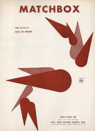 """Matchbox (song) - 1957 U.S. sheet music for """"Matchbox"""""""