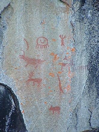 Missinaibi Lake - Pictographs on Fairy Point